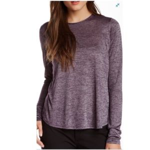 Vince Purple & Gray Long Sleeve Top Size Small